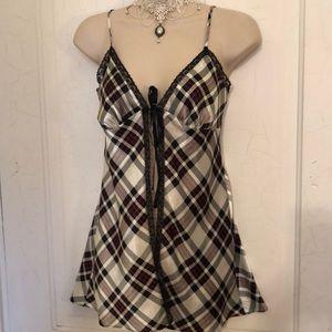 VS black white checkered nightie XS